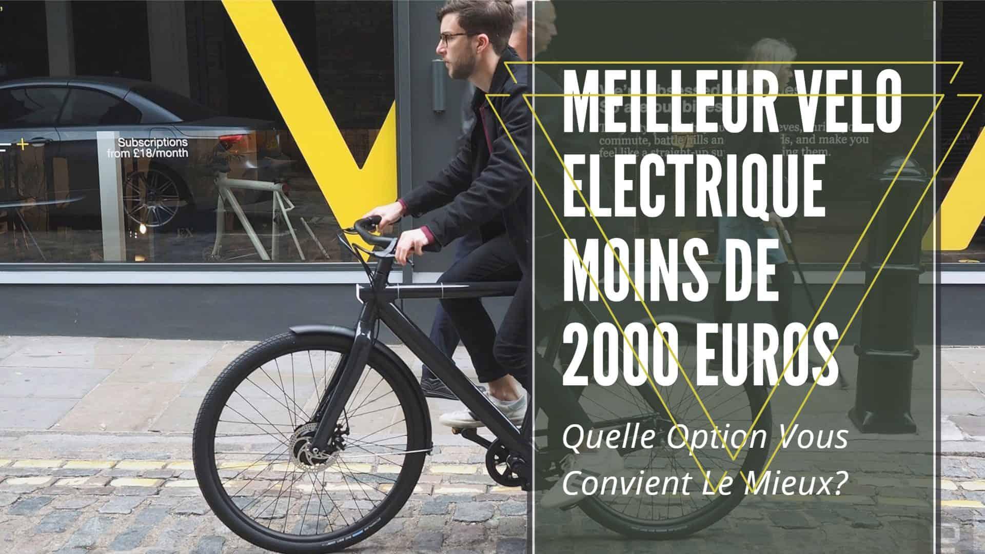 meilleur velo electrique moins de 2000